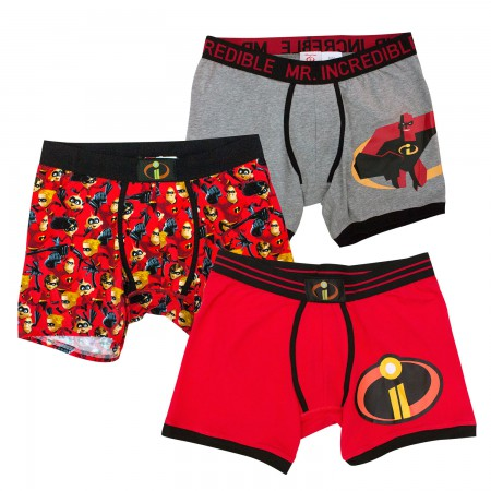 The Incredibles 2 Mr. Incredible Men's Boxer Brief Set of 3