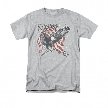 US Navy Trident Gray T-Shirt