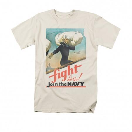 US Navy Fight Let's Go Cream T-Shirt