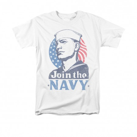 US Navy Join Now White T-Shirt