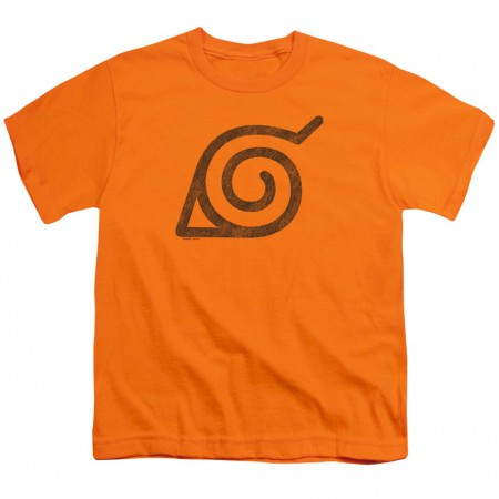 Naruto Leaves Symbol Orange Youth Tshirt