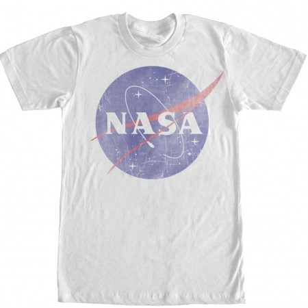 NASA Classic Logo Men's White T-Shirt
