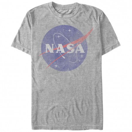NASA Classic Logo Men's Grey T-Shirt