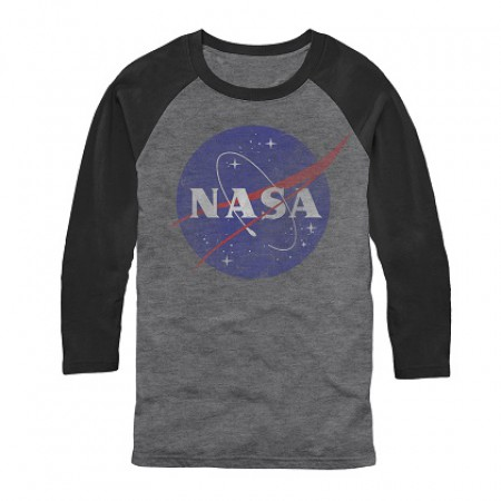 NASA Long Sleeve Men's Grey Raglan Shirt