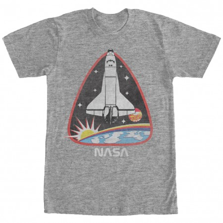 NASA Space Shuttle Men's Grey T-Shirt