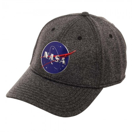 NASA Logo Men's Fitted Grey Hat