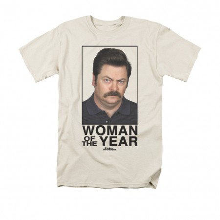 Parks & Recreation Woman Of The Year Cream T-Shirt