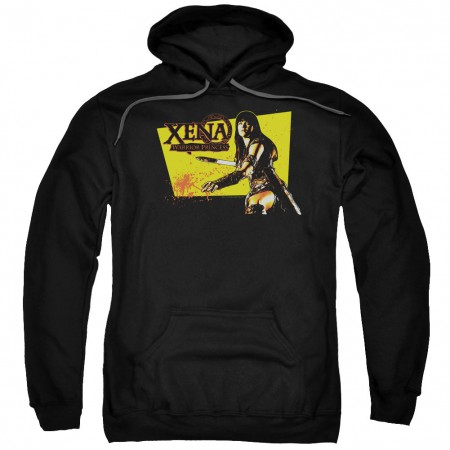 Xena Cut Up Black Pullover Hoodie