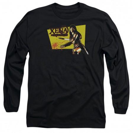 Xena Cut Up Black Long Sleeve T-Shirt