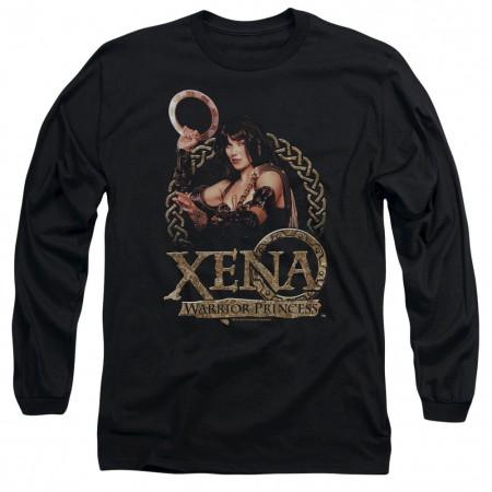 Xena Royalty Black Long Sleeve T-Shirt