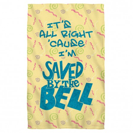 Saved By The Bell Logo Beach Towel