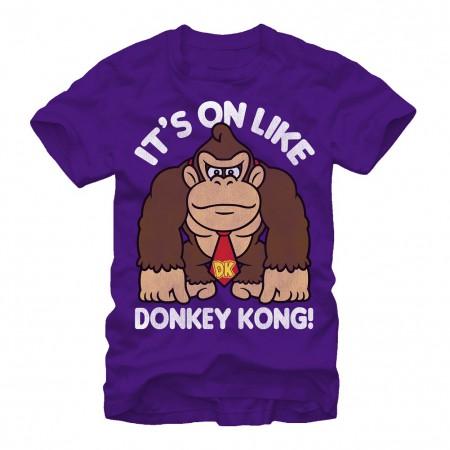 Donkey Kong On Like Donkey Kong Men's Purple T-Shirt