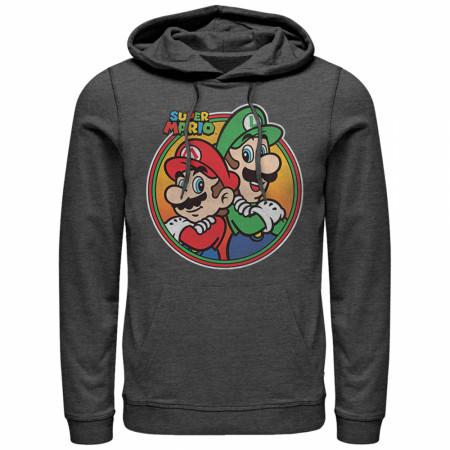 Mario Brothers Grey Hoodie
