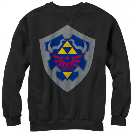 Nintendo Legend of Zelda Simple Shield Black Sweatshirt