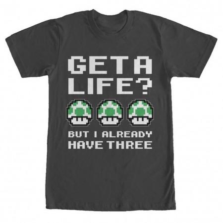 Nintendo Mario Get A Life Mushrooms Tshirt