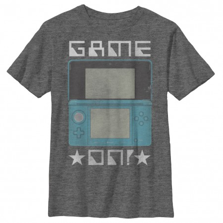 Nintendo DS Game On Gray Youth Boys 8-20 T-Shirt