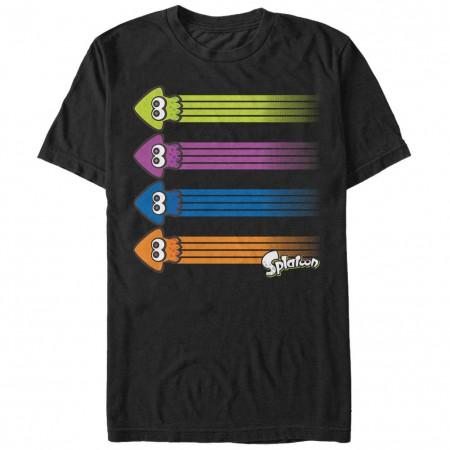 Nintendo Splatoon Ink Streak Black T-Shirt