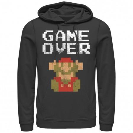 Nintendo Mario Game Over Black Pullover Hoodie