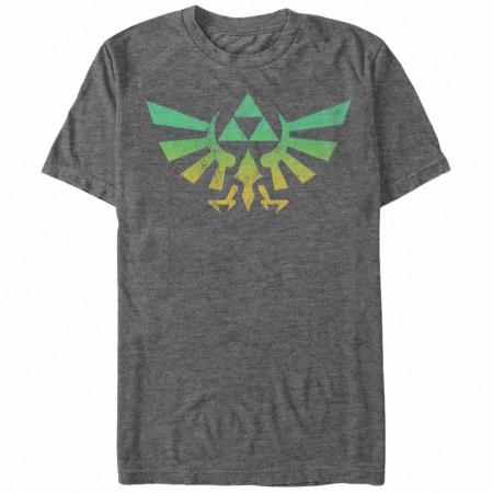 Nintendo Legend of Zelda Zelda Cresty Gray T-Shirt