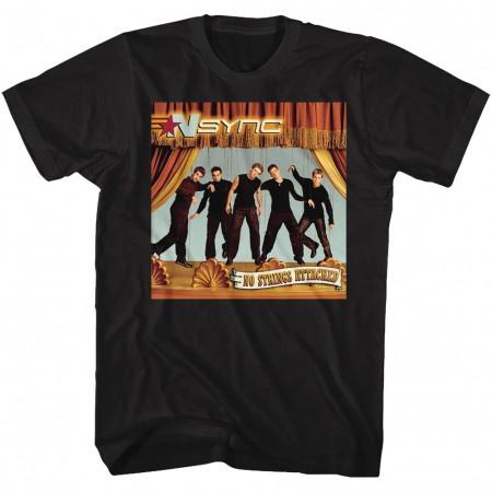 NSYNC No Strings Attached Men's Black T-Shirt
