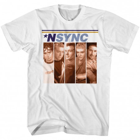 NSYNC Lineup Boxes Men's White T-Shirt