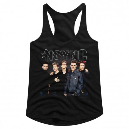 NSYNC Group Shot Women's Racerback Tank Top
