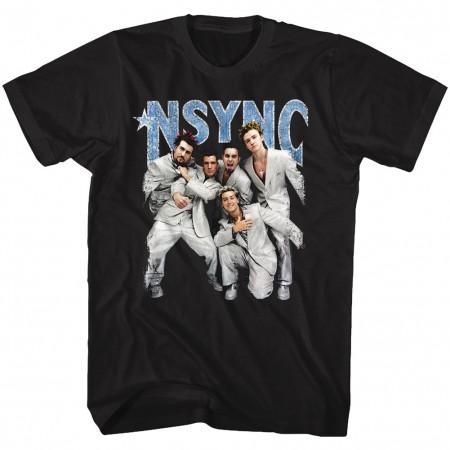 NSYNC Strike A Pose Men's Black T-Shirt