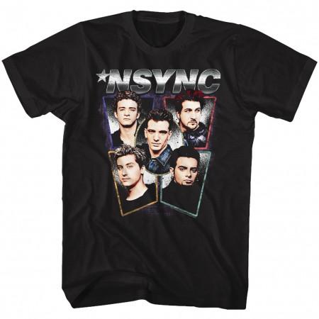 NSYNC Heads Men's Black T-Shirt