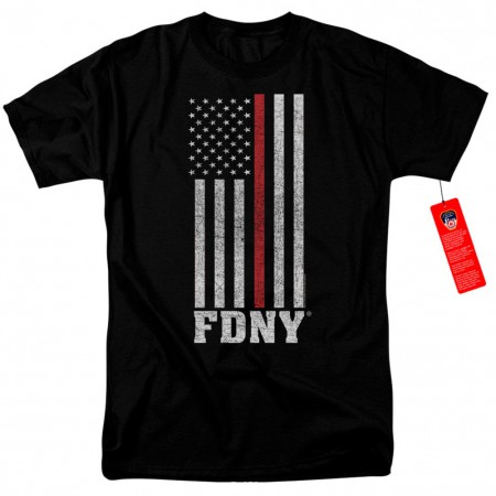 New York City FDNY Patriotic Men's Black T-Shirt