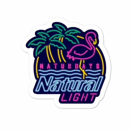 Natural Light Beer Naturdays Sticker