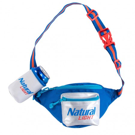 Natural Light Fanny Pack With Beer Holster