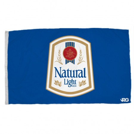 Natural Light Rowdy Gentleman Blue Vintage Flag