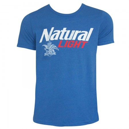 Natural Light Logo Men's Heather Blue T-Shirt