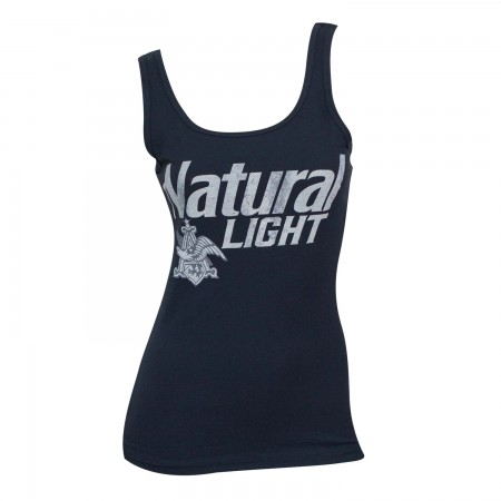 Natural Light Faded Blue Ladies Tank Top}