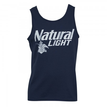Natural Light Men's Blue Vintage Tank Top