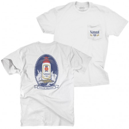 Natural Light Lighthouse Chest Pocket Tee