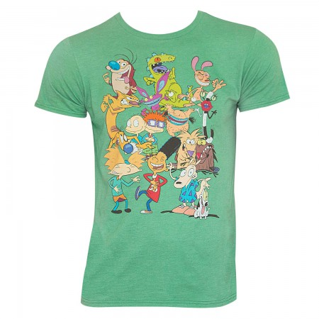 Nickelodeon Men's Green 90's Rewind T-Shirt