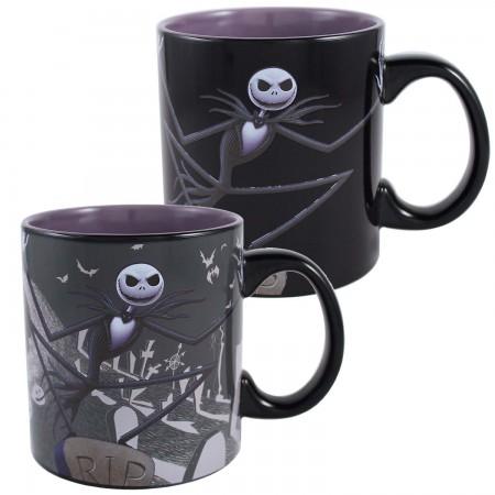 Nightmare Before Christmas Graveyard Color Change 20oz Mug