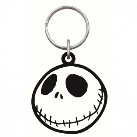 Nightmare Before Christmas Rubber Jack Keychain