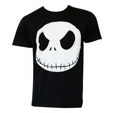 Nightmare Before Christmas Men's Black Glow In The Dark T-Shirt