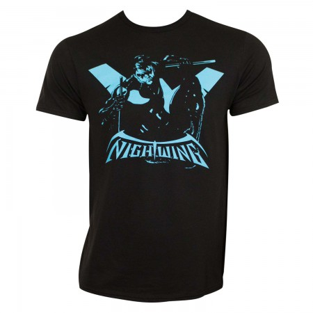 Nightwing Men's Black Silhouette T-Shirt