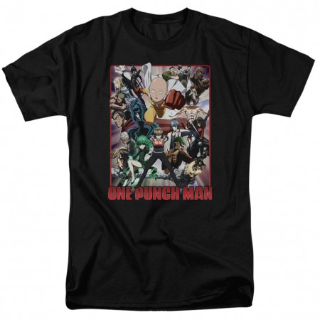One Punch Man Cast of Characters Tshirt
