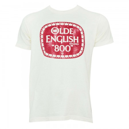Olde English Men's Off White Distressed Logo T-Shirt