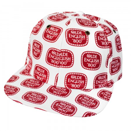 Olde English All Over Print Snapback Hat