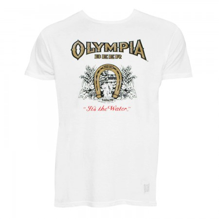 Olympia Men's White Retro Brand T-Shirt