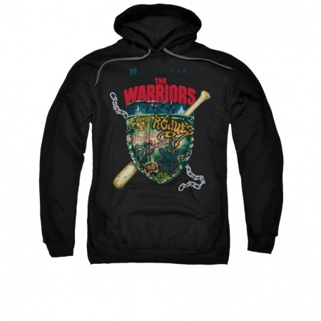 The Warriors Shield Black Pullover Hoodie