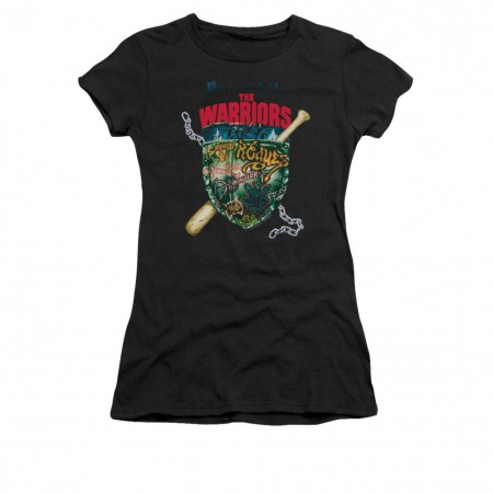 The Warriors Shield Black Juniors T-Shirt