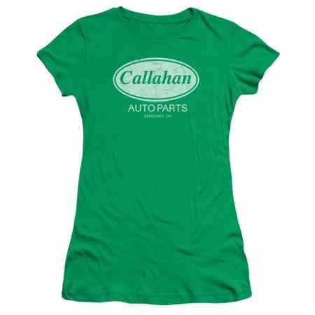Tommy Boy Callahan Auto Green Juniors T-Shirt