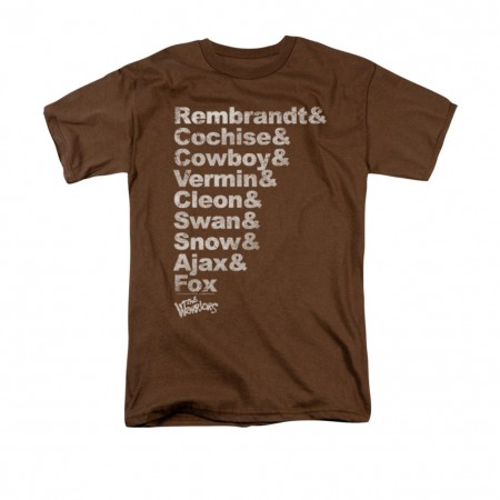 The Warriors Names Roster Brown T-Shirt