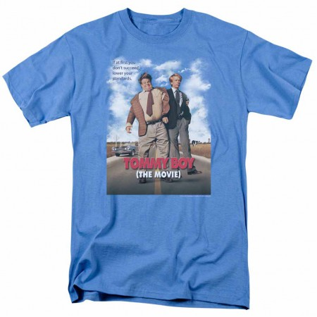 Tommy Boy Movie Poster Blue T-Shirt